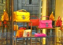 Système italien de mode de sac en Italie   Images stock