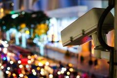 Système numérique de télévision en circuit fermé de données de réseau grand pour la protection Image libre de droits