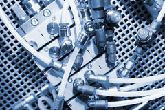 Système pneumatique. Images stock
