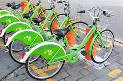 Système public de vélo en Chine image libre de droits