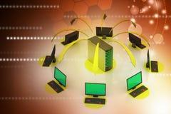 Système sans fil de mise en réseau Photo libre de droits