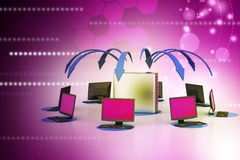 Système sans fil de mise en réseau Images libres de droits