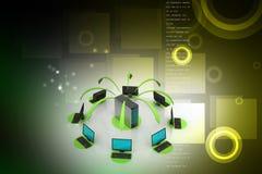 Système sans fil de mise en réseau Image stock
