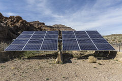 Système solaire à la conserve nationale de Mojave photos libres de droits