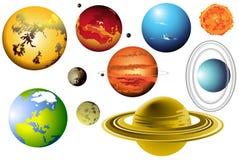 Système solaire images libres de droits