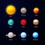 Système solaire Images stock