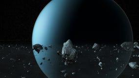 Système solaire avec la planète X banque de vidéos