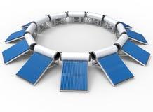 Système solaire de chauffe-eau illustration de vecteur