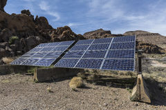 Système solaire de conserve nationale de Mojave images libres de droits