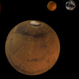 Système solaire - Mars Photographie stock