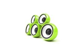 Système sonore vert clair Images libres de droits