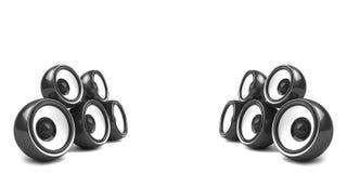 Système stéréo élégant noir Photos libres de droits