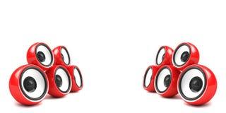 Système stéréo élégant rouge Images stock