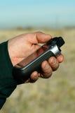 Système tenu dans la main de GPS Photographie stock