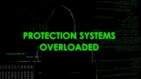 Systèmes de protection surchargés, attaques de ddos sur le gouvernement et sites privés images libres de droits