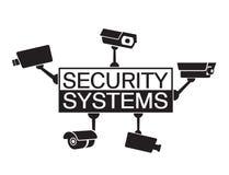 Systèmes de sécurité d'élément de conception de logo Photos stock