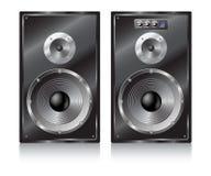 Systèmes stéréo de haut-parleur. Images stock