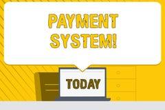 Syst?me de paiement des textes d'?criture de Word Concept d'affaires pour un système employé pour payer ou arranger des transacti illustration libre de droits