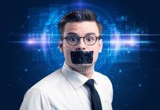 Syst?me de reconnaissance faciale photographie stock libre de droits