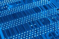 Systeem, Motherboard, computer en elektronikaachtergrond Stock Afbeelding