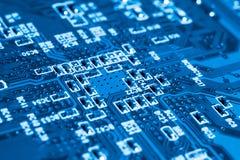 Systeem, Motherboard, computer en elektronikaachtergrond stock fotografie