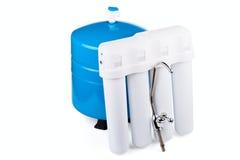 Systeem van een filtratie van drinkbaar water stock fotografie