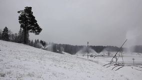 Systeem van Kunstmatige Snowmaking stock video