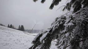 Systeem van Kunstmatige Snowmaking stock videobeelden