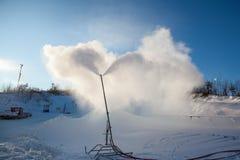 Systeem van Kunstmatige Snowmaking Stock Afbeeldingen