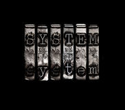 Systeemconcept Royalty-vrije Stock Afbeelding
