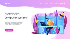 System administration concept vector illustration stock photo