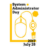 System Administrator Appreciation Day, July. 28 2017,  greeting card with computer mouse Stock Photo