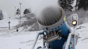 System of Artificial Snowmaking stock footage