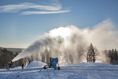 System of artificial snowmaking Stock Image