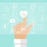System av sjukvårdbegreppet stock illustrationer
