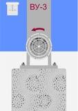 System av ventilation. Arkivfoton