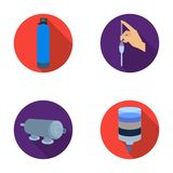 System, balloon, hand, trial .Water filtration system set collection icons in flat style vector symbol stock Royalty Free Stock Photo
