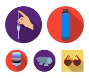 System, balloon, hand, trial .Water filtration system set collection icons in flat style vector symbol stock. Illustration Royalty Free Stock Image
