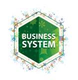 System Biznesowy rośliien wzoru zieleni sześciokąta kwiecisty guzik ilustracja wektor