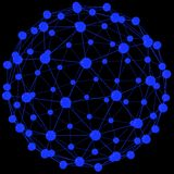 System of blue spheres Stock Photo