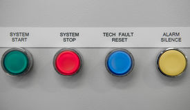 System botton. The control circuit for control system box Stock Image