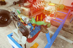 The system of the car Engine and light. vintage color soft style. Royalty Free Stock Images