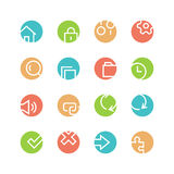 System colored icon set Stock Images
