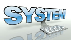 System concept, computer and keyboard Stock Photography