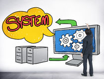 System Connection Technology Data Networking Concept Stock Photography