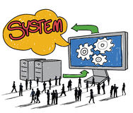 System Connection Technology Data Networking Concept Royalty Free Stock Photos