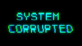 System Corrupted text with bad signal. Glitch effect Royalty Free Stock Images