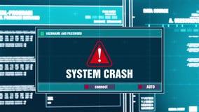 23. System Crash Warning Notification on Digital Security Alert on Screen.