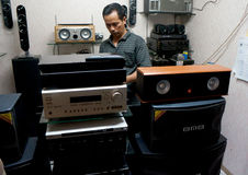 system dźwiękowy Fotografia Royalty Free