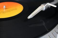 System dźwiękowy i winyl Zdjęcia Royalty Free